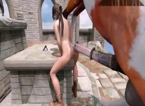 Lara Croft gets raped by