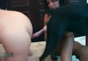 Vaginal sex with a horny as hell doggy